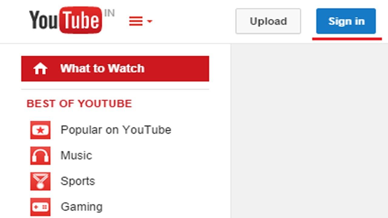 Login Youtube