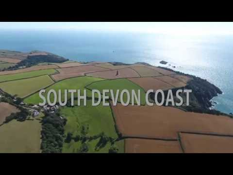 South Devon Coast DJI Phantom 4 Drone in 4k