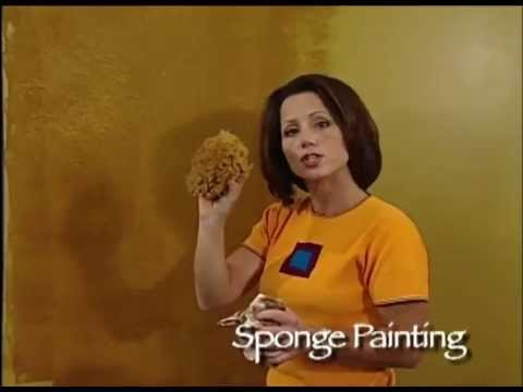 How To Faux Finish Steps - Sponge Painting by The Woolie (How To Paint Walls) #FauxPainting
