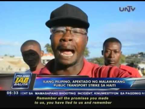 Ilang Pilipino apektado ng malawakang public transport strike sa Haiti