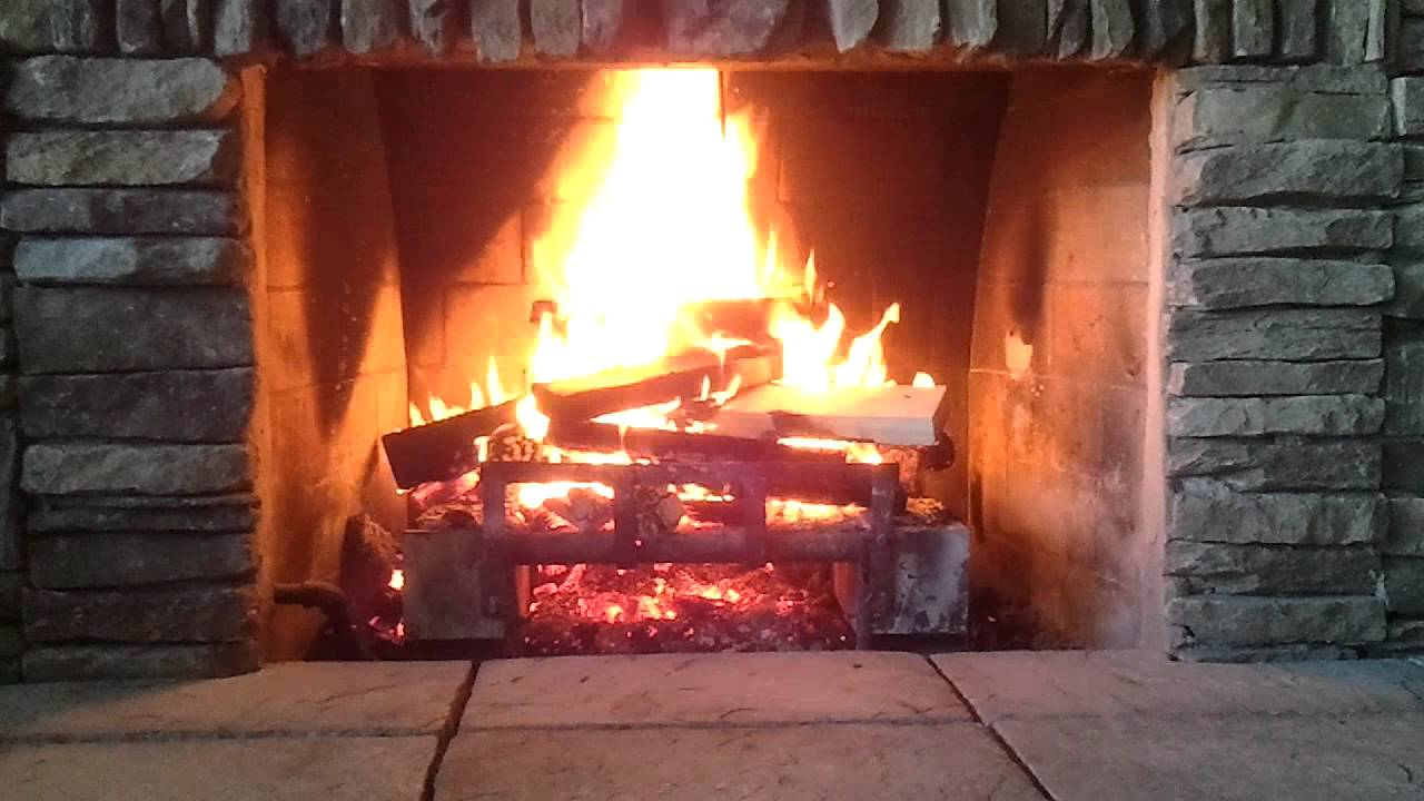 Crackling Fireplace at 3:52 a big ember pops like a gunshot.