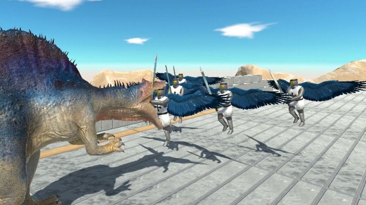 Angel Knight Guardians vs ALL UNITS Animal Revolt Battle Simulator