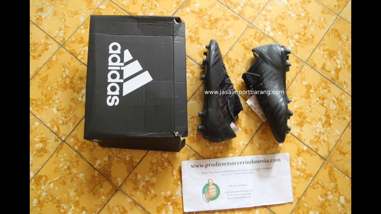 e6a964f56 Sepatu Bola Adidas Nemeziz 17.3 FG Core Black S80600 Original - YouTube