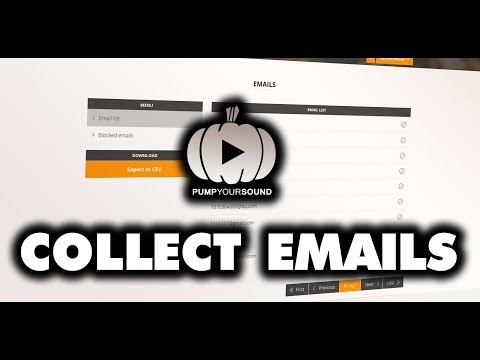 Pump Your Sound Tutorial 10: Building Email List With SoundCloud Tracks   pumpyoursound