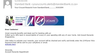 Standard Bank Ucount Rewards Email Scam