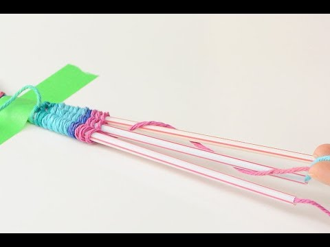 Straw Weaving Instructions | How to Weave with Drinking Straws and Yarn