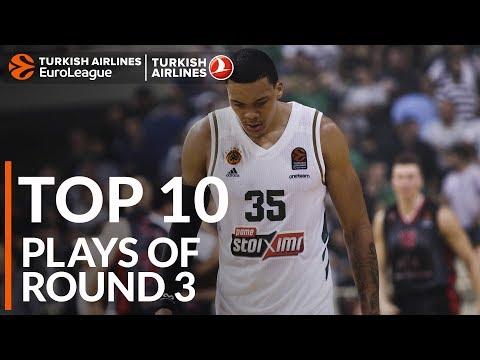 Turkish Airlines EuroLeague Regular Season Round 3 Top 10 Plays