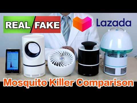 Mosquito Killer Comparison Review PORTOTI Perangkap Nyamuk โคมไฟดักยุง
