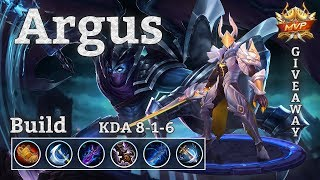 Mobile Legends: Argus Gameplay, Unkillable Assassin!? + Skin Giveaway