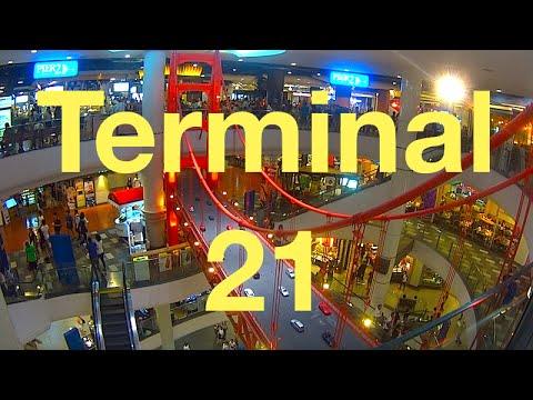 Terminal 21, Sukhumvit, Bangkok, shopping Mall   video review