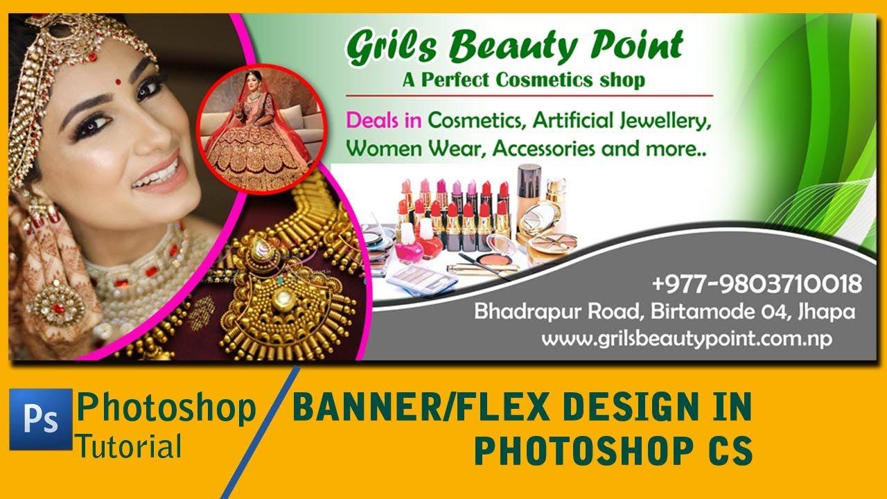 Photoshop Tutorial Banner Flex Design In Photoshop Cs Youtube