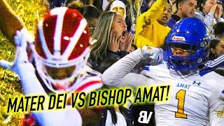 #1 Mater Dei 1ST ROUND PLAYOFF GAME VS Bishop Amat: QB Gets CRACKED TWICE, HAIL MARY'S, & HARD HITS!