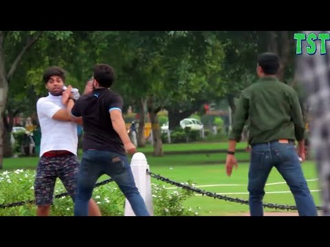 2017 ki best funny prank video tst Rahul and Prince amazing Prasad