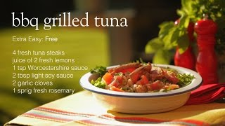 Slimming World BBQ grilled tuna steak