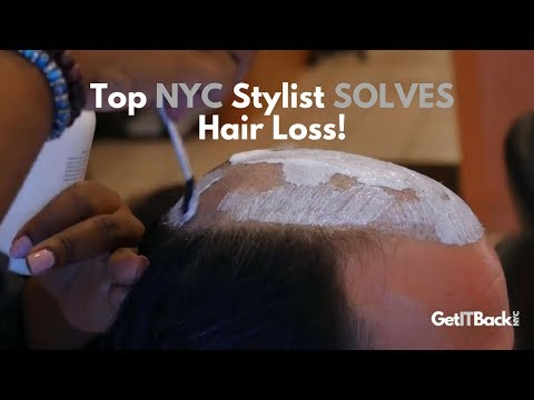 Top NYC Stylist Solves Hair Loss w/ Best Hair Piece