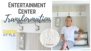 Entertainment Center Transformation, Entryway Bench Creation