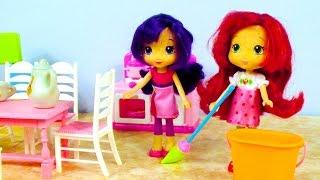 Шарлотка и Вишенка делают уборку. Истории для девочек