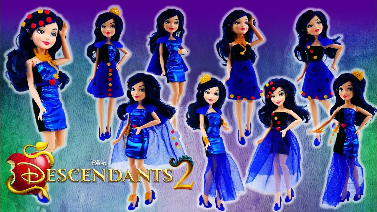 27dff8c4b2 Disney Descendants 2 Movie Evie's 4 Hearts Doll Review - YouTube