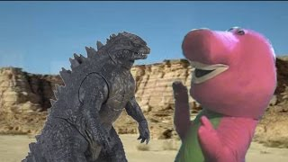 Godzilla Vs Barney The Dinosaur