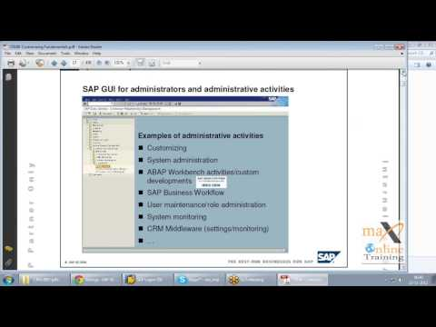 SAP CRM Demo Video | SAP CRM Beginner Training | Max OnlineT