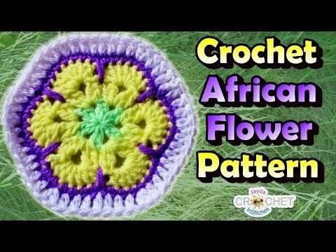 Crochet African Flower Hexagon Pattern