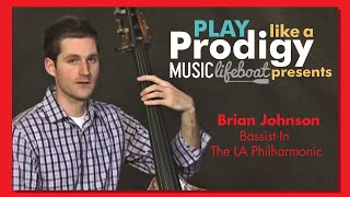 Lesson 3: Plucking Open Bass Strings Pizzicato With Virtuoso Brian Johnson, Bassist In The LA Phil