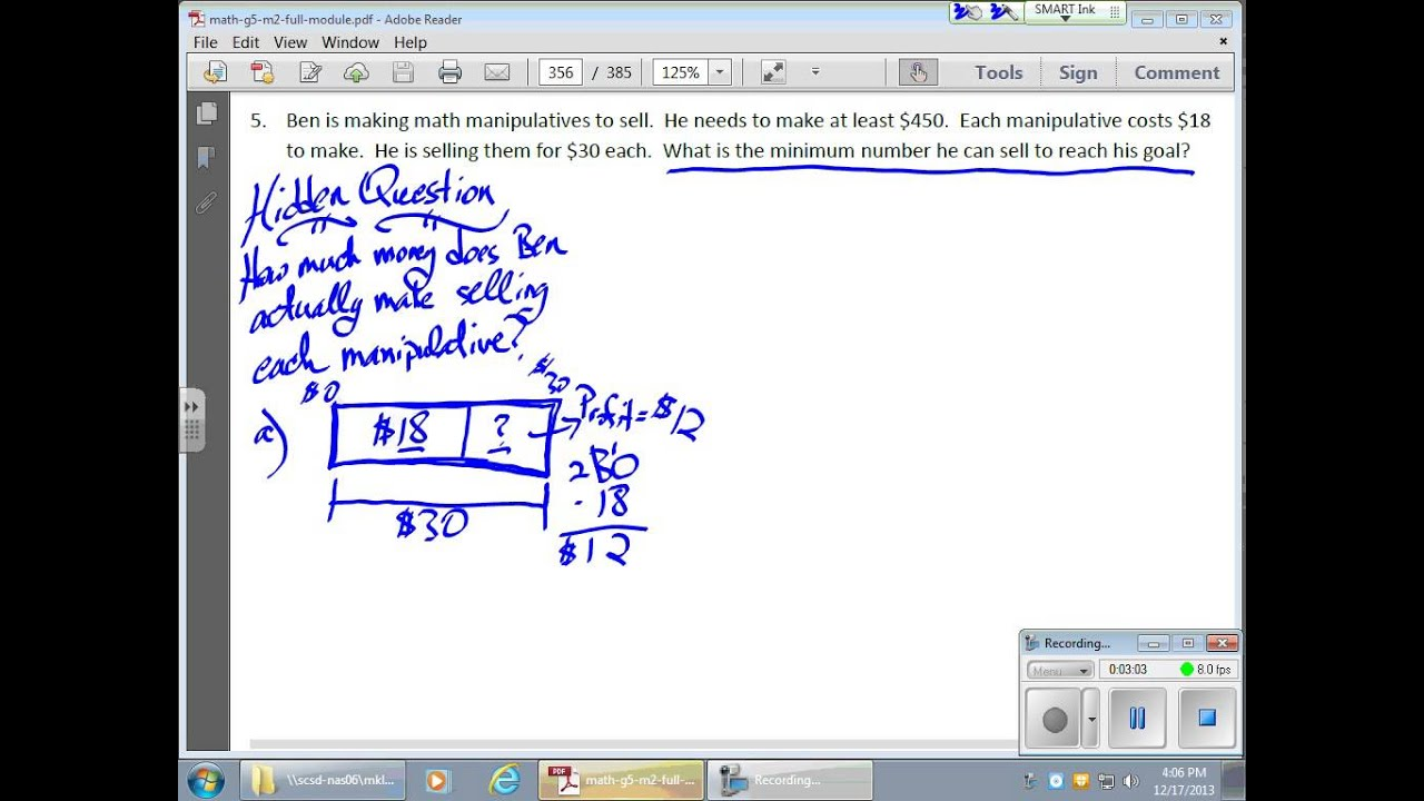 December 17 Module 2 Lesson 28 Solving Division Word Problems Using Tape Diagrams