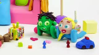 baby hulk needs teddy bear stop motion play doh cartoon for children  vYGsOmsVaA 240p