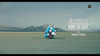 cinema 4d tutorial compositing 3d animations on 2d images