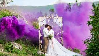 Красивая свадьба в горах Адыгеи. Свадьба в стиле Бохо.