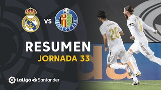 Resumen de Real Madrid vs Getafe CF (1-0)