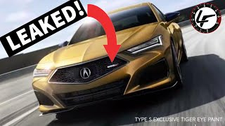Acura TLX Type-S LEAKED just hours before its unveil!