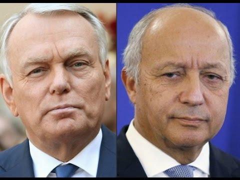 Passation de pouvoir entre Laurent Fabius et Jean-Marc Ayrault