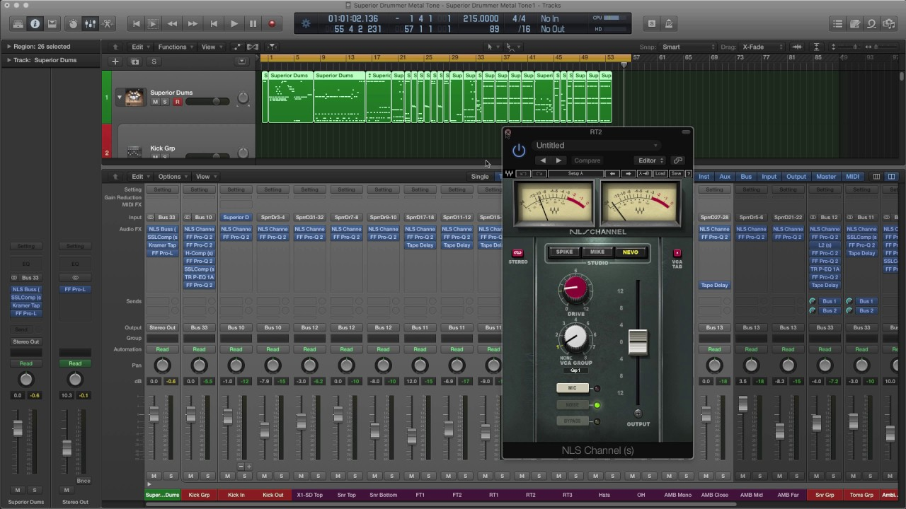 Logic Pro X Metal Drum Template Superior Waves Mixing Review