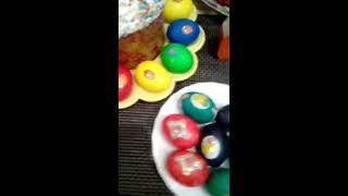 Обзор на пасхальные яйца и куличи  ПАСХА   Чем я красила яйца