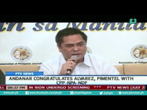 [PTVNews] PCO Sec. Andanar congratulates Alvarez, Pimentel with CPP-NPA-NDF