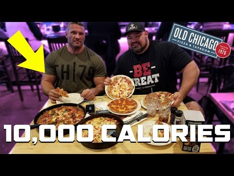10,000 CALORIE PIZZA CHEAT MEAL | TERRY HOLLANDS | BRIAN SHAW