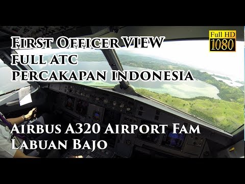 ( FO VIEW - Ind ) Airbus A320 Komodo Labuan Bajo Airport Familiarization Batik Air