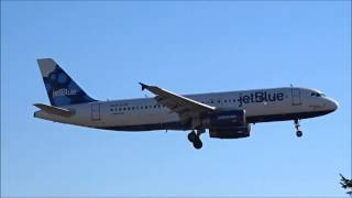 JetBlue A320 arrival in Providence