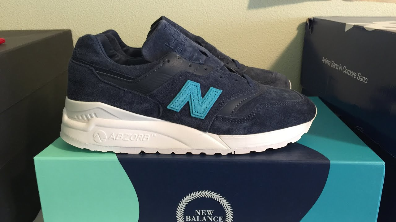 san francisco 4d9a1 55b75 Ronnie Fieg x New Balance 997.5 'Mykonos Archipelago' Sneaker Unboxing