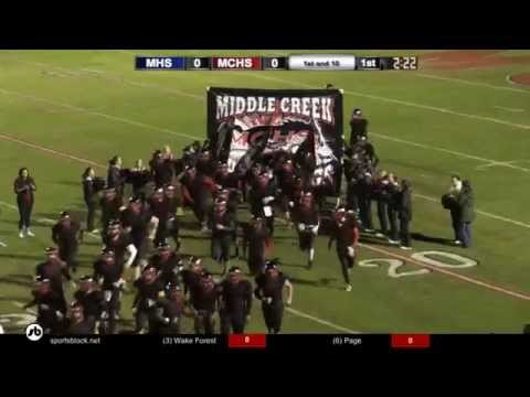 Millbrook vs MCHS Football 11-20-2015 2nd Round of the Playoffs