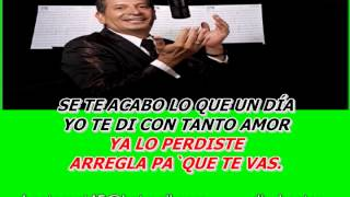 KARAOKEVIDEO ARREGLA PAQUE TE VAS, DARIO GOMEZ Z