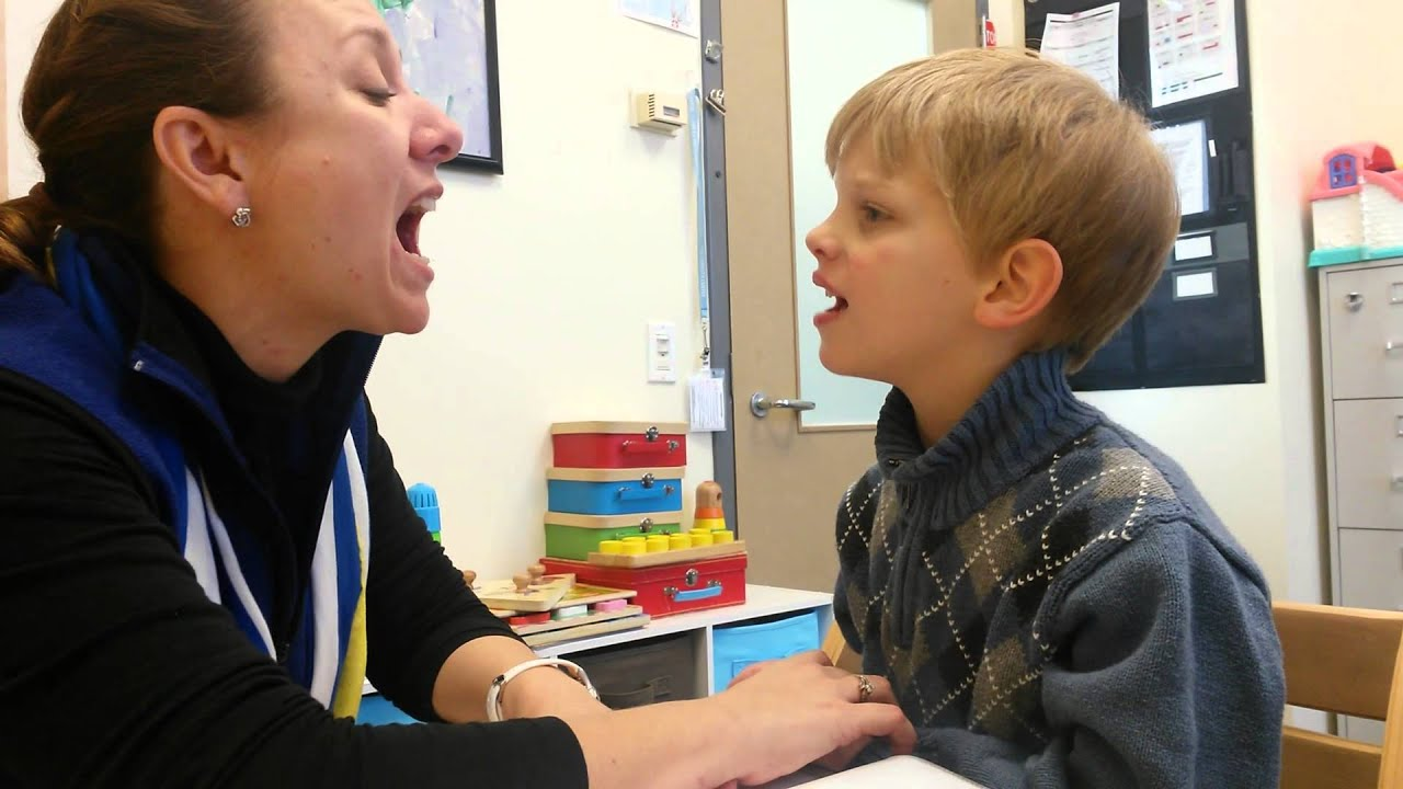 Working On His L Sound At Speech Therapy On March 3