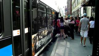 MaBSTOA Bus: Three Crowded LFSA M101 / M102 / M103 at 79th St & Lex Ave