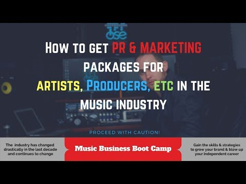 PR and Marketing Packages for artists in the music industry