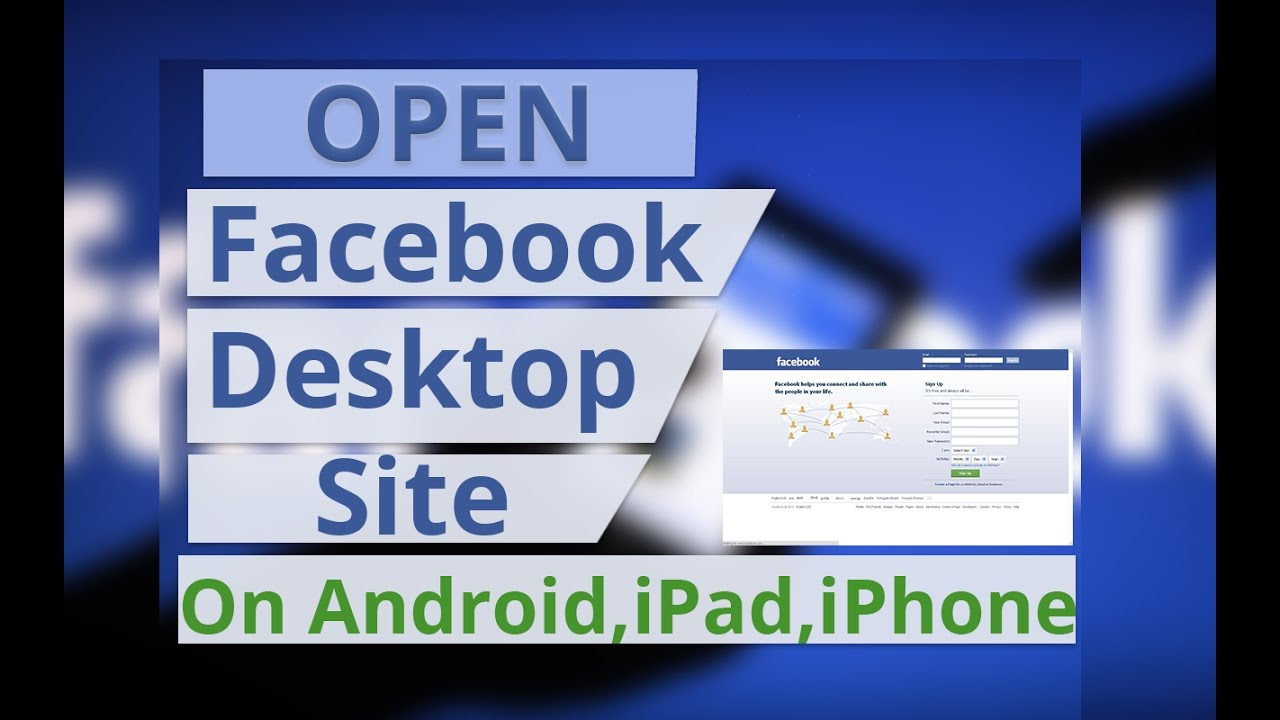 How to Open Facebook Desktop View on Android