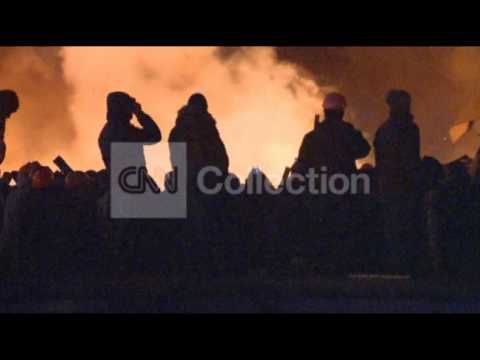 UKRAINE:INDEPENDENCE SQUARE FIRE AND PROTESTS