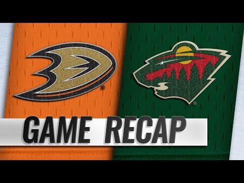 Miller, Ducks shut out Wild, 4-0
