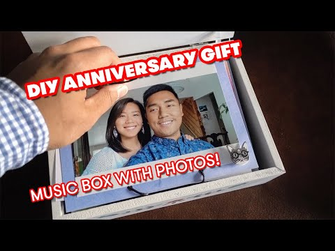 DIY Anniversary Gift! 😘 Music box with photos 🎵📸