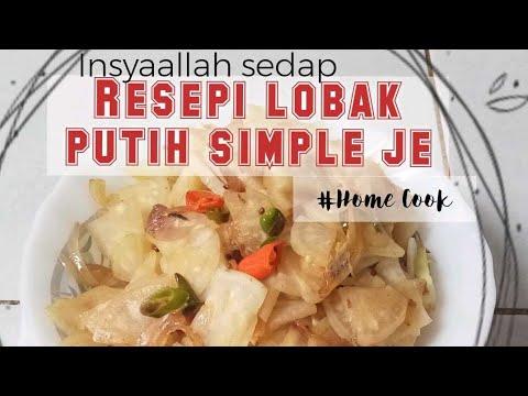 Resepi Lobak Putih Simple Home Cook Insyaallah Sedap Youtube